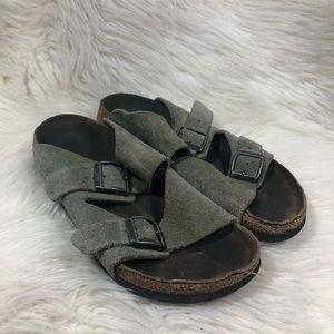 Birkenstock Birki's Arizona Gray Suede Sandals